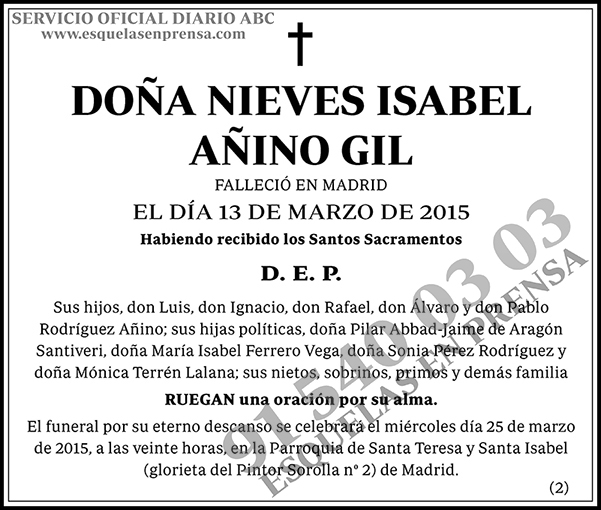 Nieves Isabel Añino Gil